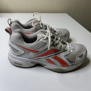 Reebok White Womens Athletic Running Sneakers 8